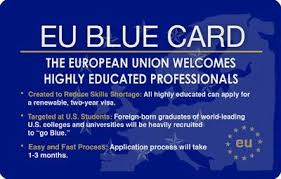 Release of the EU BLUE CARD